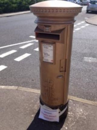 Bronze post box, Lowestoft