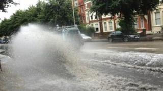 Kettering Road flash floods