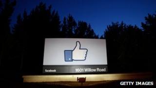 Facebook 'like' symbol at HQ