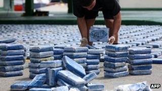 Colombian cocaine haul - file pic