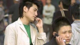 Chinese with cellphones