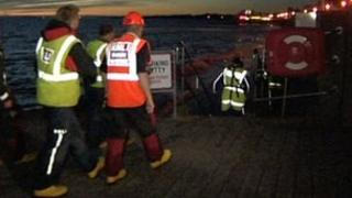Search operation in Burnham-on-Sea, Somerset