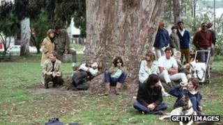 "Hippies at a 1960s ""gathering"" in San Francisco's Golden Gate Park (file pic)"