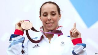 Beth Tweddle with her Bronze Medal