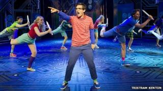 Aaron Sidwell (Michael Dork) and Loserville Ensemble