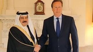 King Hamad with David Cameron