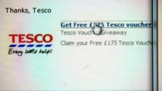 The fake supermarket offer page