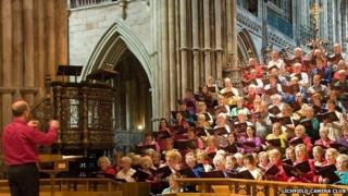 Choir at Lichfield Cathedral