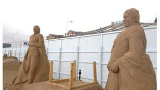 Repaired Olympic sculptures
