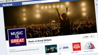 Great Britain campaign's Music is GREAT page