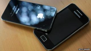 Apple iPhone 4 and Samsung Galaxy S2