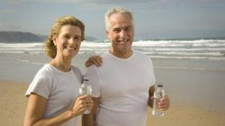Mature couple on beach