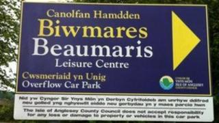 Beaumaris leisure centre sign