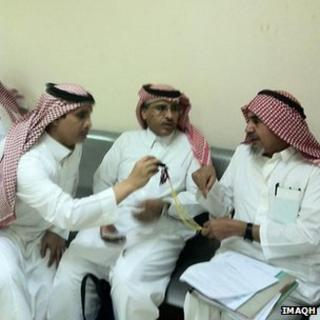Rights activists Mohammad al-Qahtani and Mohammed al-Hamid