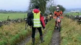 Anti-vehicle campaigners meet bikers