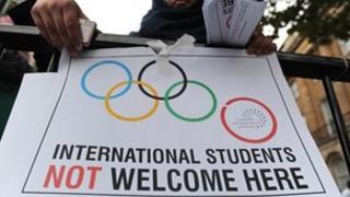 Protests at London Metropolitan University