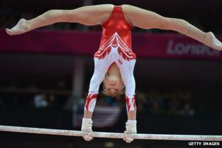 Russian gymnast Anastasia Grishina at London 2012 Olympics