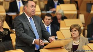 Alex Salmond introduced a referendum bill among his new legislative programme