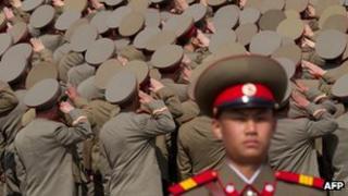 File photo: North Korean soldiers