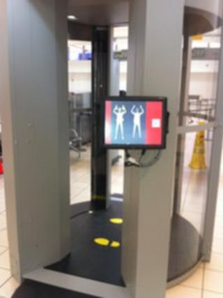 The new body scanner at Belfast International Airport