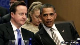 Barack Obama with David Cameron