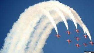 The red arrows in action