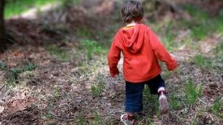 A child in a wood