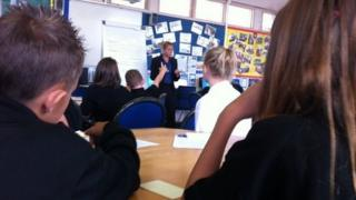 Caroline Greaves teaching at Glyn Derw in Cardiff