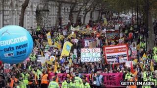 Public sector strike in London