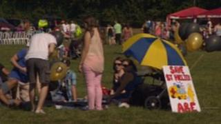 People taking part in the fun day protest