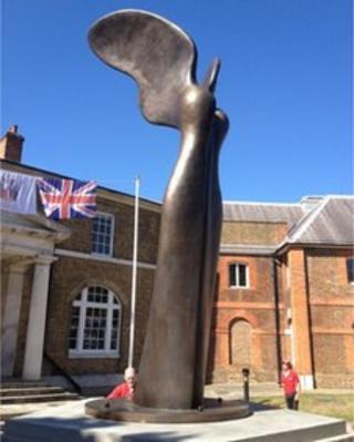 Nike statue at Royal Arsenal