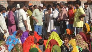 The group of Hindus which arrived on Sunday 9 September 2012