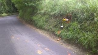 The lane on Daneway Hill, Sapperton, where the accident happened
