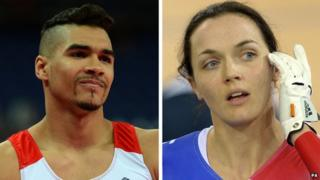Split picture of Olympians Victoria Pendleton and Louis Smith