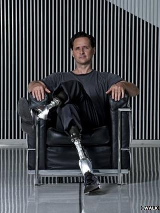 Hugh Herr with his bionic legs