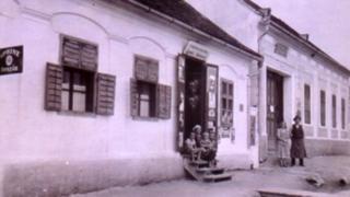 Ignatz Salamon's shop in Rohrbach, Austria, circa 1938
