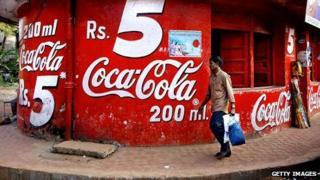 Coca-Cola branding in India