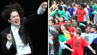 Images from London 2012 Festival: The Big Concert by Gustavo Dudamel and Simon Bolivar Symphony Orchestra of Venezuela and the Big Dance world record attempt