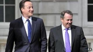 David Cameron and Liam Fox in 2010