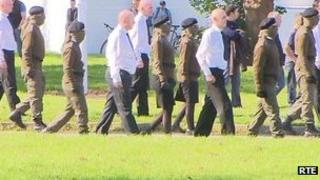 Paramilitaries at Alan Ryan funeral