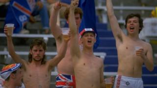 England fans in 1986