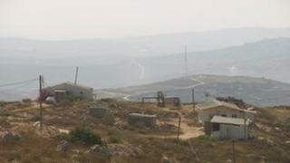 Hilltop outpost near Israeli settlement of Yitzhar