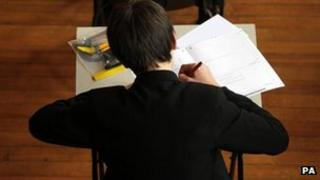 Pupil sitting an exam