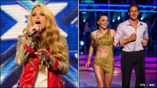X Factor and Strictly Come Dancing