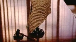 Gavel and wig