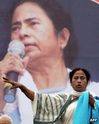 West Bengal state Chief Minister Mamata Banerjee in Sept 2012