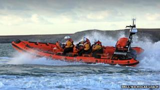 Trearddur Bay RNLI Atlantic 85 Lifeboat Hereford Endeavour