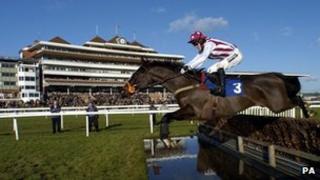 Tony McCoy at Newbury racecourse