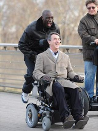 Omar Sy and Francois Cluzet in Untouchable