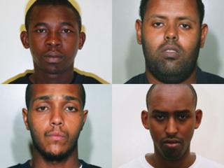 Clockwise from top left: Manfo Asiedu, Muktar Ibrahim, Yassin Omar and Ramzi Mohammed